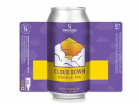 Cloud Down Double IPA Can Design