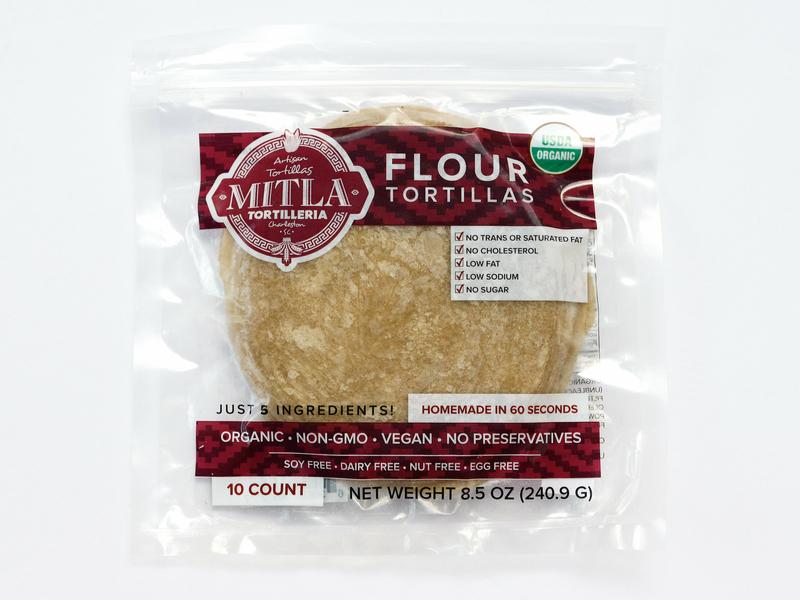 Mitla Tortilleria Flour Label Design design branding graphic design food and beverage label packaging label design food
