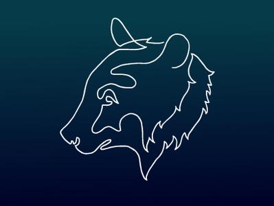 Single Line Bear Logo