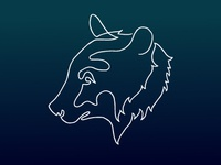 Single Line Bear Logo