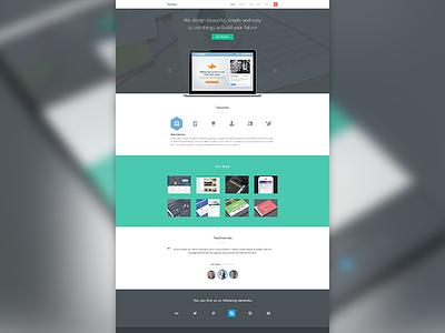 Propixel Homepage ui ux pixel home page web portfolio company testimonials work icons website