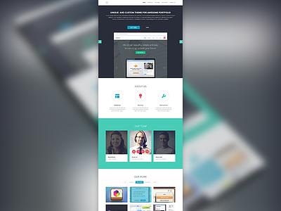 Home Page ui ux web icons interface homepage portfolio company website work testimonials home page