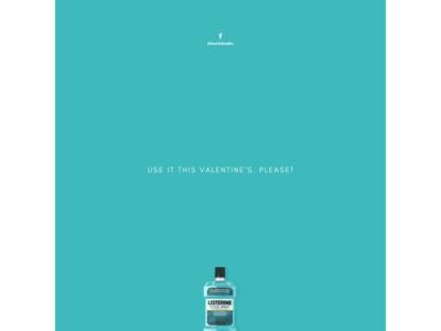 Listerine Mouthwash Valentine's Day - Minimal Ad