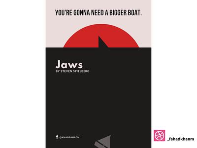Jaws - Minimal Poster steven spielberg jaws hollywood netflix film poster poster design poster art poster minimal poster minimalist minimalism minimal illustration design