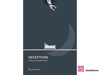Inception - Minimal Poster leonardo dicaprio christopher nolan hollywood inception netflix film poster poster design poster art poster minimal poster minimalist minimalism minimal illustration design
