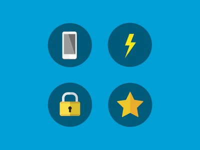Icon-ing phone bolt mobiledesign ftux lock star icons