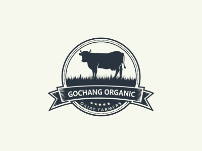 Organic milk vector design unique modern professional creative branding minimal illustration flat logo business logo