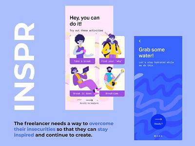 INSPR - overcoming creative block design ux ui flat figmadesign figma app design app