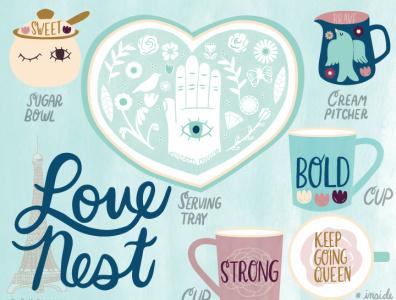 Love Nest Ceramics Design illustration ceramics