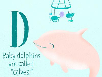 Dolphin cute illustration cute animals cute art dolphins babypink digital illustration illustration baby animals