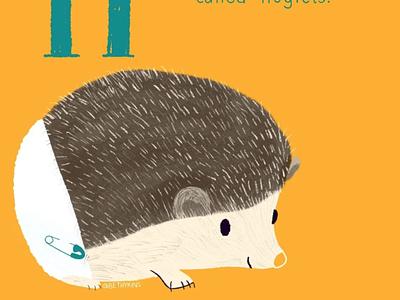 Hedgehog! animals illustrated baby animals cute animal children book illustration illustration illustrator childrens book