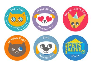 Calendar Reminder Stickers icon design stickers cute dog cute cat dog illustration cat