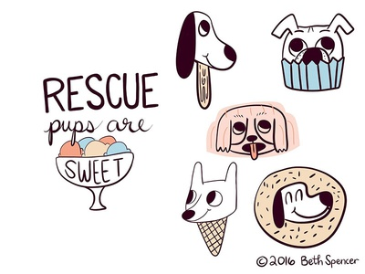 Rescue Pups are Sweet
