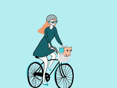 Bike Human Cat