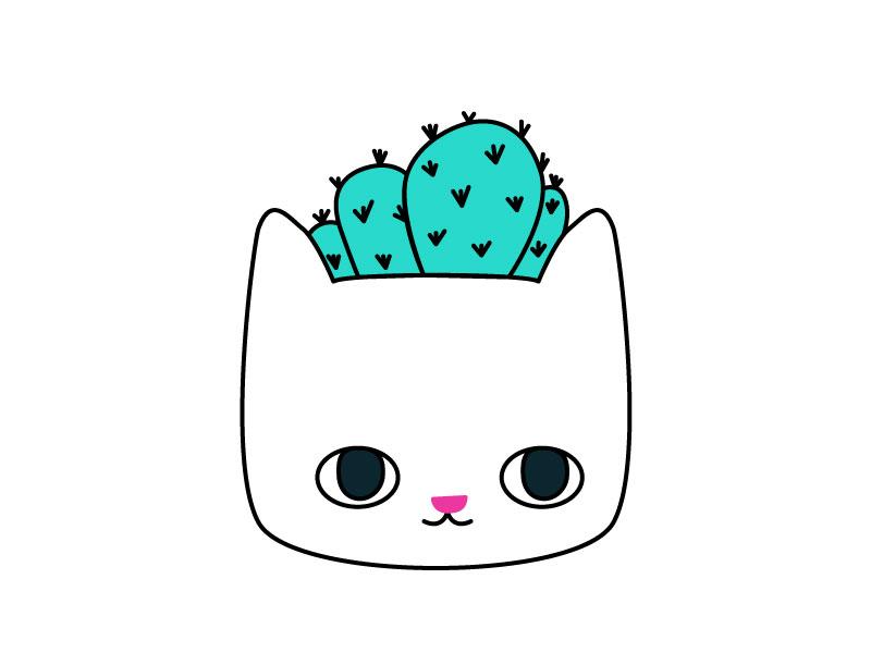 Cactus Kitty Planter Pin cactus cat lady kitten kitty cat