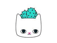 Cactus Kitty Planter Pin