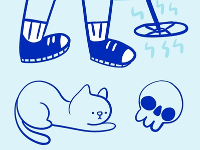 100-Day Project cute web design daily drawing kitty illustration 100catsdoingthings cat illustration cat drawing kitty illustration cat