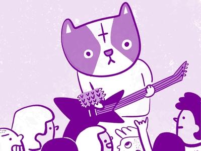 Scoops starts a black metal band kitty illustration cats kitty 100catsdoingthings cat illustration cat drawing illustration cat