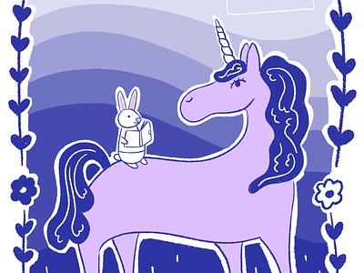 Bunny & Unicorn Friends bunny illustration unicorn