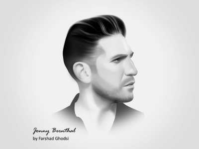 Digital Painting, Portrait of Jonny Bernthal
