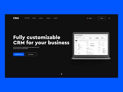 CRM homepage design