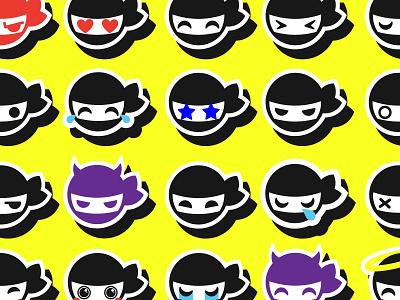 Ninja Hiro Stickers icon mascot emoji character free viber stickers ninja vector logo branding illustration design graphic design