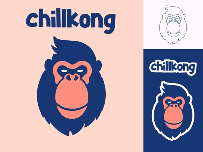 Chill Kong - Logo Design ape colorful identity logo design logo mark logotype flat gamer gaming mascot chill kong gorilla illustration vector branding logo typography graphic design design