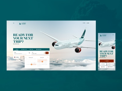 Airways Company Landing Page Design aircraft web marketing airline airplane mobile responsive landing page company website airways design studio ux web website interface web design ui minimalistic graphic design design