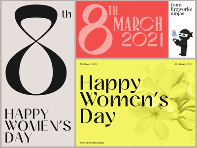 Happy Women's Day serif type typeface holiday card holiday design studio international womens day womens day 8th march vector branding illustration typography graphic design design