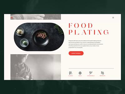 Cooking Classes Web Design teaching web marketing interaction motion graphic education e-learning cooking class cooking animation interaction design design studio ux web website interface web design minimalistic ui design