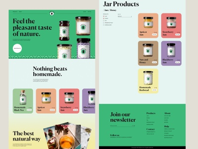 Jars & Jams Ecommerce Web design user interface online shop jams jars ecommerce business ecommerce design studio typography landing page interaction design ux web website interface web design minimalistic ui