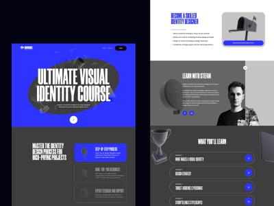 Broworks Academy Web Design interactive design design graphic design ui interface web design website minimalism service web marketing company website 3d graphics hero illustration ux web page user experience academy course