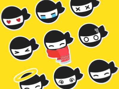 Ninja Hiro Stickers