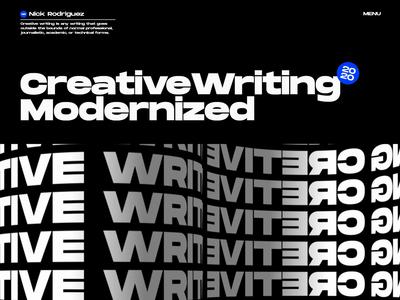 Creative Writer Website