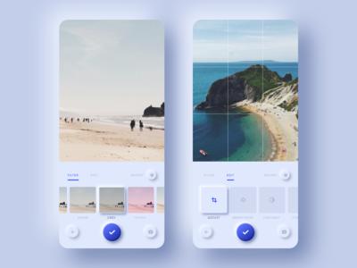 Neumorphic Photo Editing App
