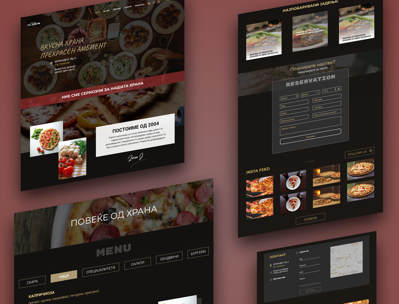 Ti Amo Pizzeria icon art ui web branding ux website typography logo design