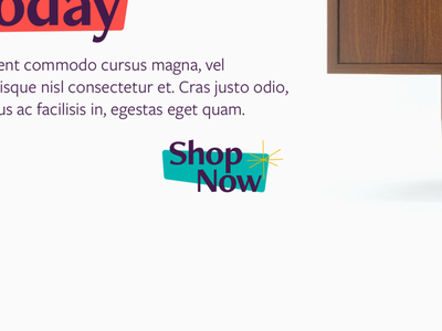 Mid-Century Modern Buttons mid-century modern web design website web button