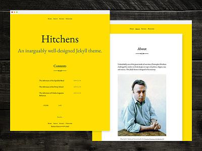Hitchens web yellow eb garamond blog theme jekyll