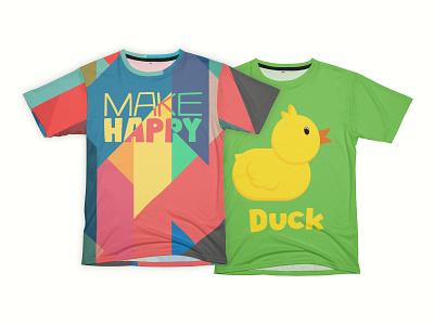 New Wonderful Wonders store make happy duck illustration t-shirt illustration t-shirt design t-shirt