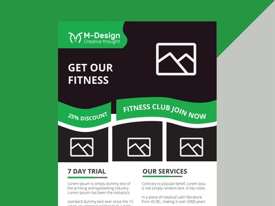 Fitness flyer design(Approved by shutterstock) corporate flyer flyer flyer design template flyer design fitness flyer