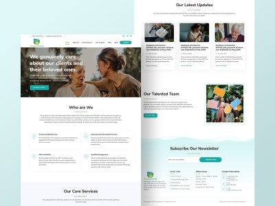 Home Page Design and Development for Elderly Care  Agency wordpress development wordpress design elders agency elderly care elderly elder design wordpress psd template psd mockup psd design web design webdesign home page homepage 2020 trend