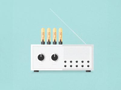 Tube Radio tube radio music antenna sounds retro