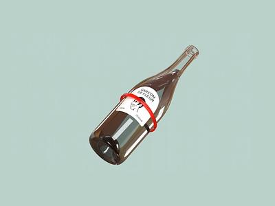 Garçon de Fleur wine bottle packaging wine cinema4d 3d typography logo illustration design branding animation