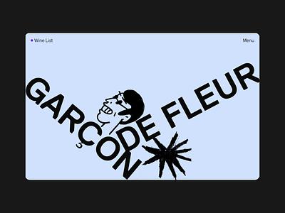 Garçon de Fleur illustration aftereffects cinema4d art design 3d site branding figma animation web landing page