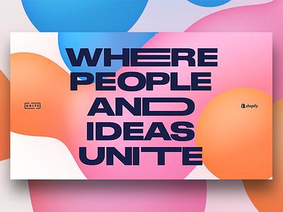 Unite '18 conference direction art creative shopify unite