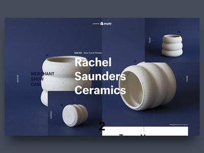 Layout Exploration merchant case show page landing ceramics test figma