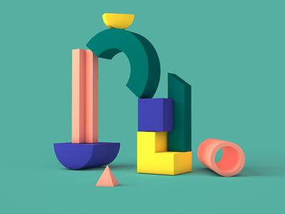 Shop Class Event Series Creative blocks animation shapes c4d