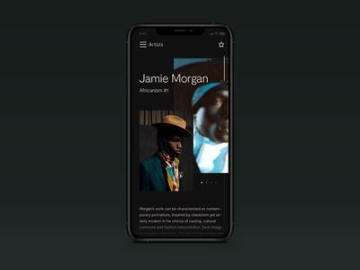 Mobile phone mobile iphone design site web figma shopify