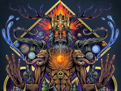 Psychedelic Meditating Mystic