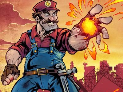 Mario Parody Trading Cards